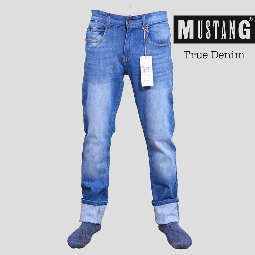 10d1441c13 Mustang Stretchable Slim Fit Denim Jeans for Men - House of Calibre