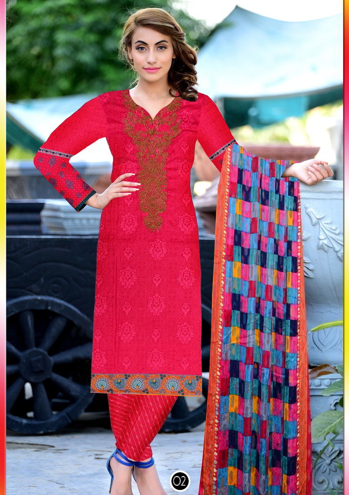 Embroidered Lawn Suits abiha collection pakistan (4)