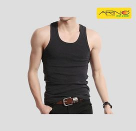 arino black tank top sando vesst