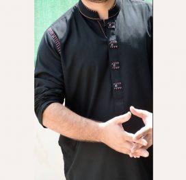 black kurta men pakistan