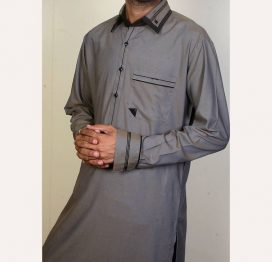 dark grey mens kurta
