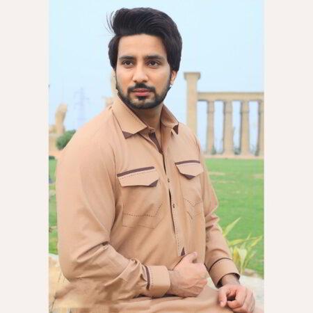 orange pocket kurta pakistan