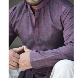 purple-kurta design men