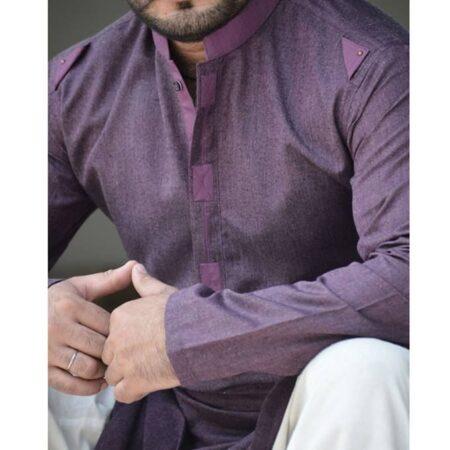 purple-kurta design men