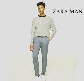 zara man lead grey chino