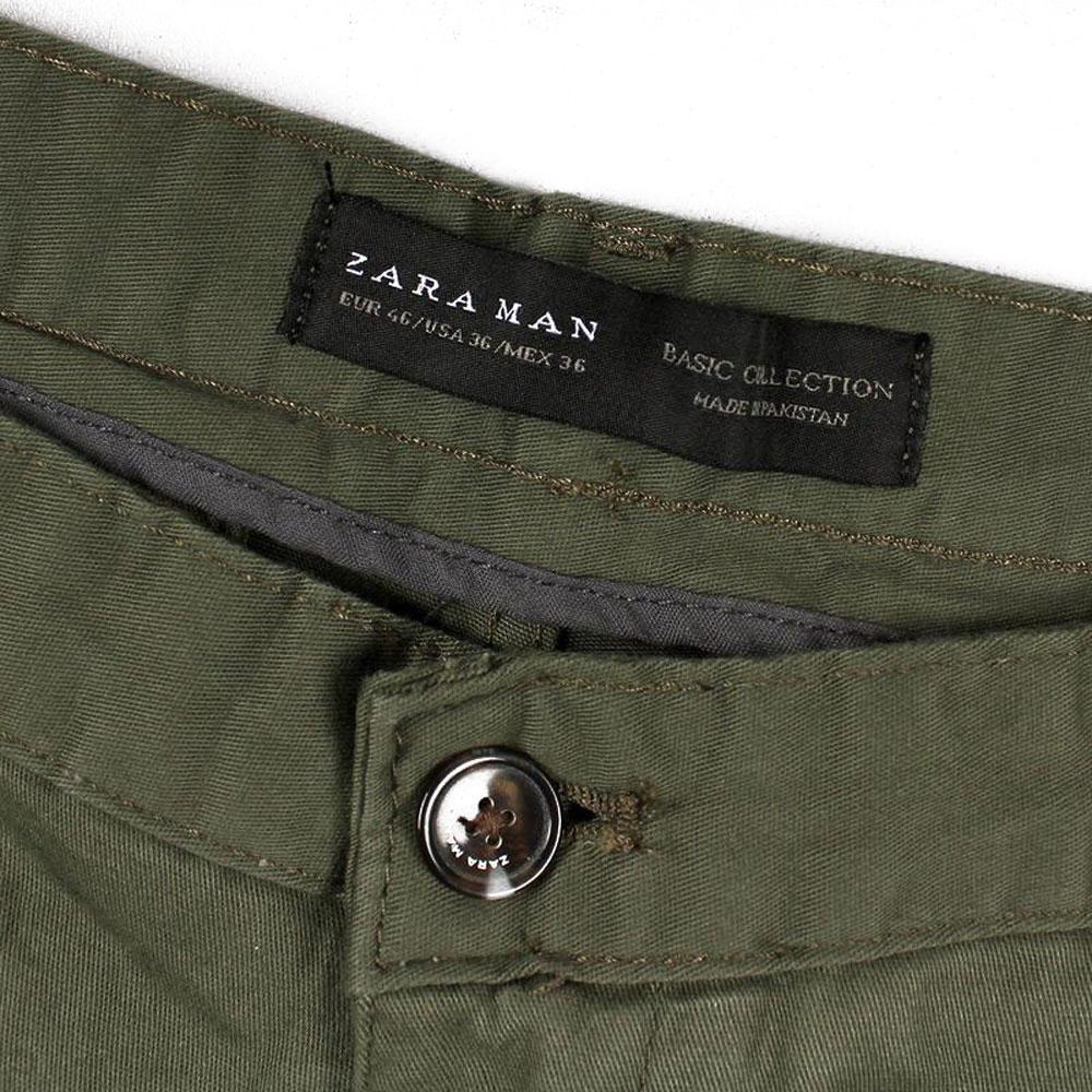 Zara Man Mild Green Slim Fit Stretchable Chino Buy