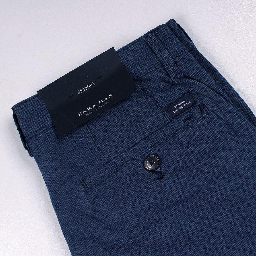 10d683724c Zara Man Blue Texture Slim Fit Chino