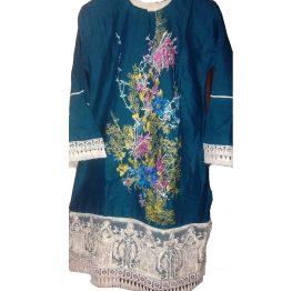 blue embrodiered shirt kurti