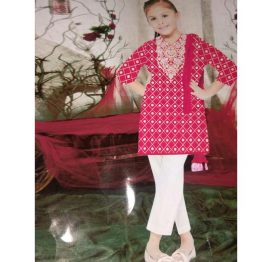embrodiered-pink-2 piece for girls