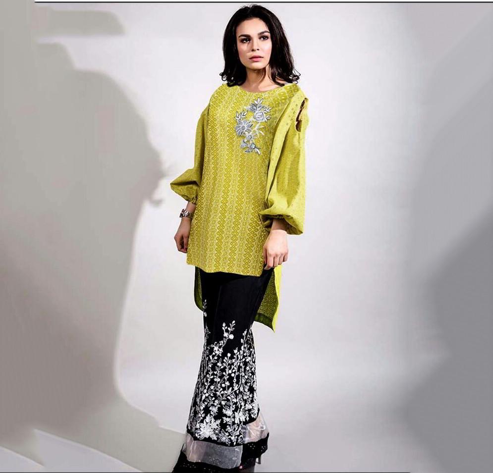 embroidered-maria-b-replica-yellow