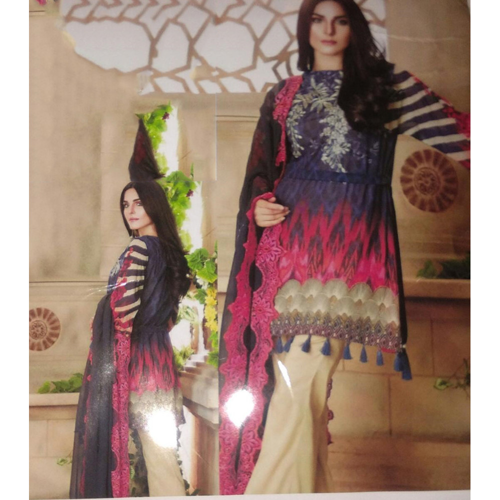 c2815658e9 Charizma Replica Linen 3 Piece Embrodiered Suit - Online Shopping in ...