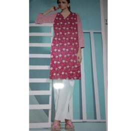 pink embrodiered suit