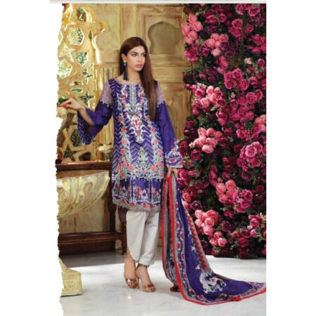 sanoor blue 3 piece suit