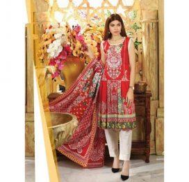 sanoor-red 3 piece suit