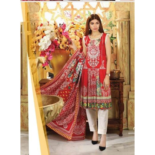 sanoor-red 3 piece suit