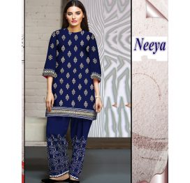 neeya embroidered lawn 2 piece