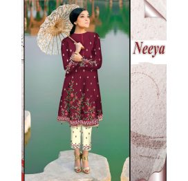 neeya red embrodiered suit