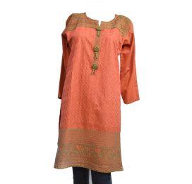 orange-kurti
