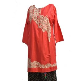 red-embroidered-kurti