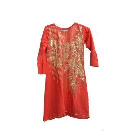 red-kurti-embroidered