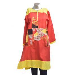 red-yellow-shirt-kurti