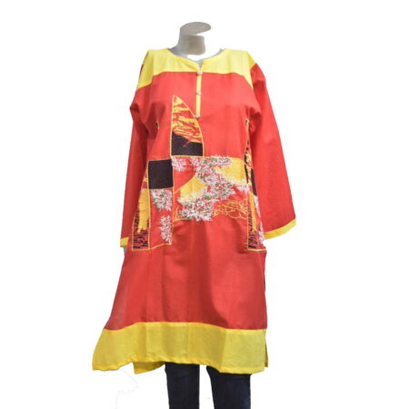 red-yellow-shirt-kurti