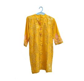 yellow-embrodiered-kurti