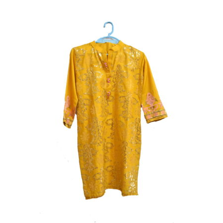 yellow-embrodiered-kurti