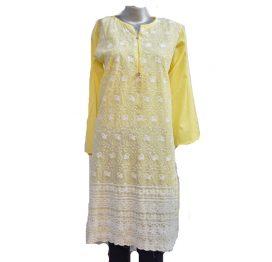 yellow-white-kurti