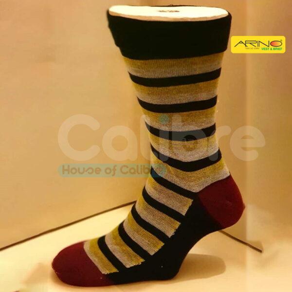 arino socks contrast stripes