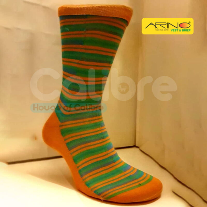 arino socks cotton green