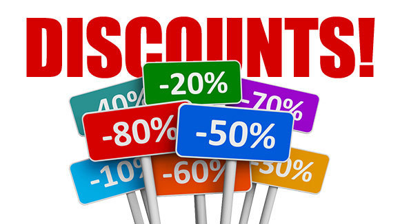 Flat discounts for whole year