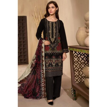 black embroidered lawn