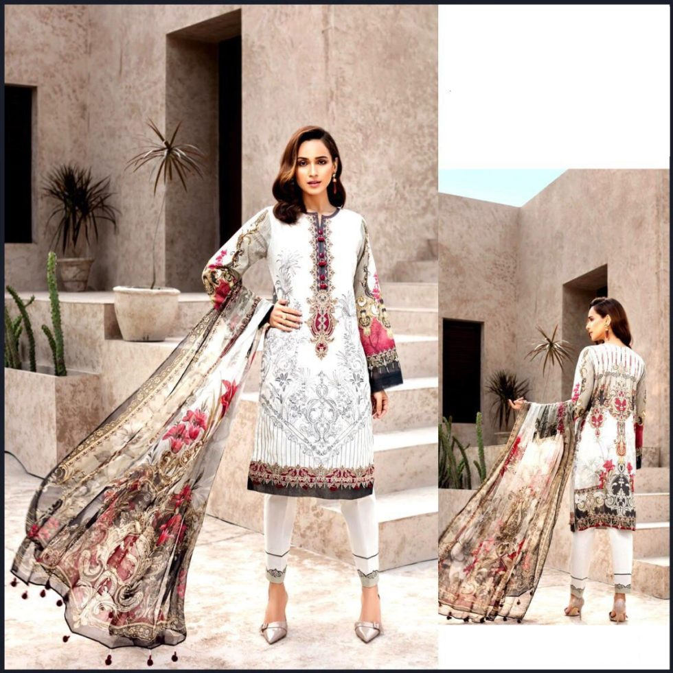 embroidered lawn suit pakistan