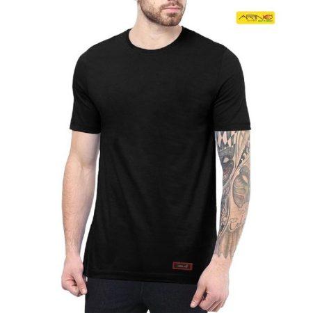 black color cotton t shirt for men in pakistan online