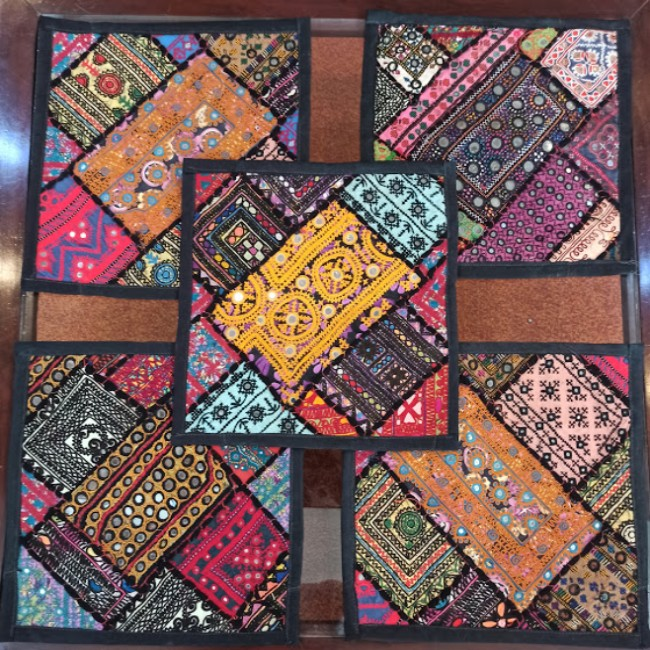 embroidered hand made patch work cushion covers online