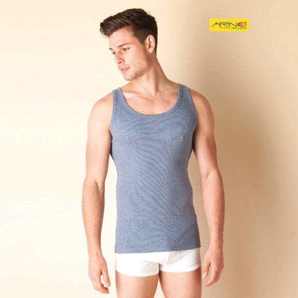 colorful men grey rib tanktop gym vest