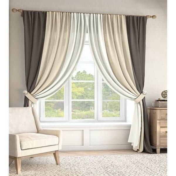 plain velvet curtain design