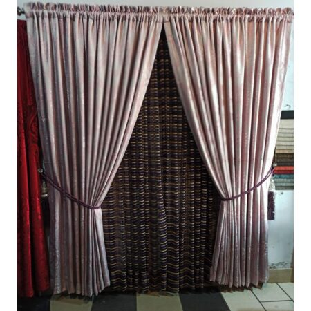 embroidered net jacquard curtain