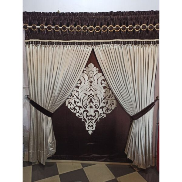 heavy drapery design velvet curtain with laser cut motif