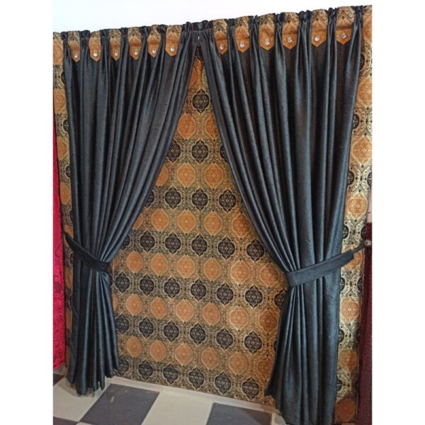 crush texture silk curtain