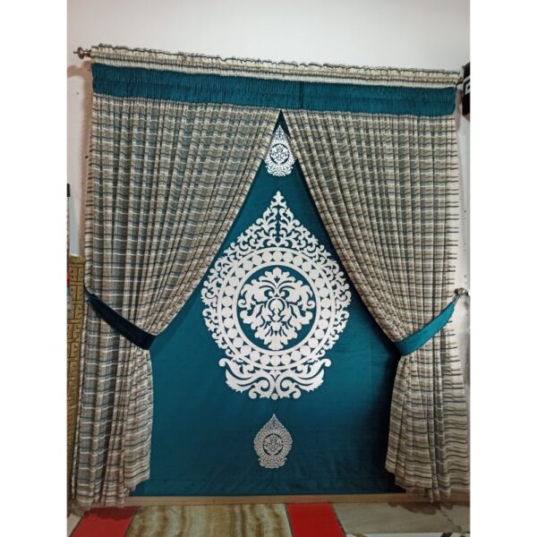 embroidered net curtain