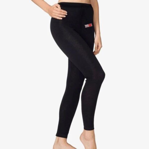 black rib leggings for women