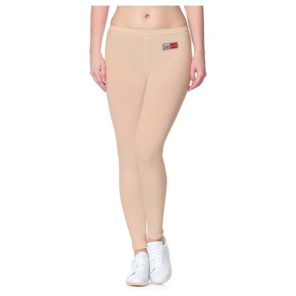 skin color rib lycra tights