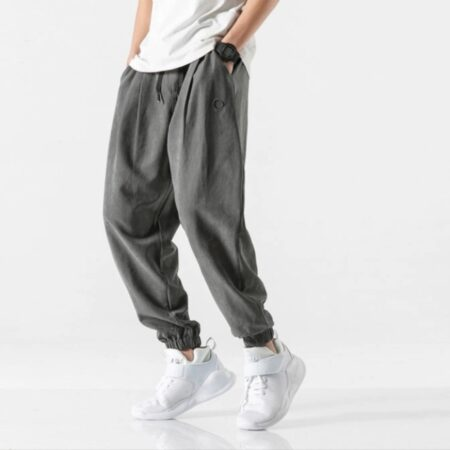 charcoal men exportleftover cotton trousers