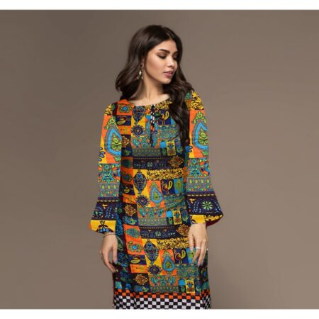 multi color digital printed stitched shirt