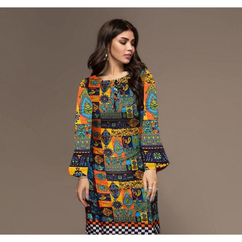 multi color digital printed stitched shirt