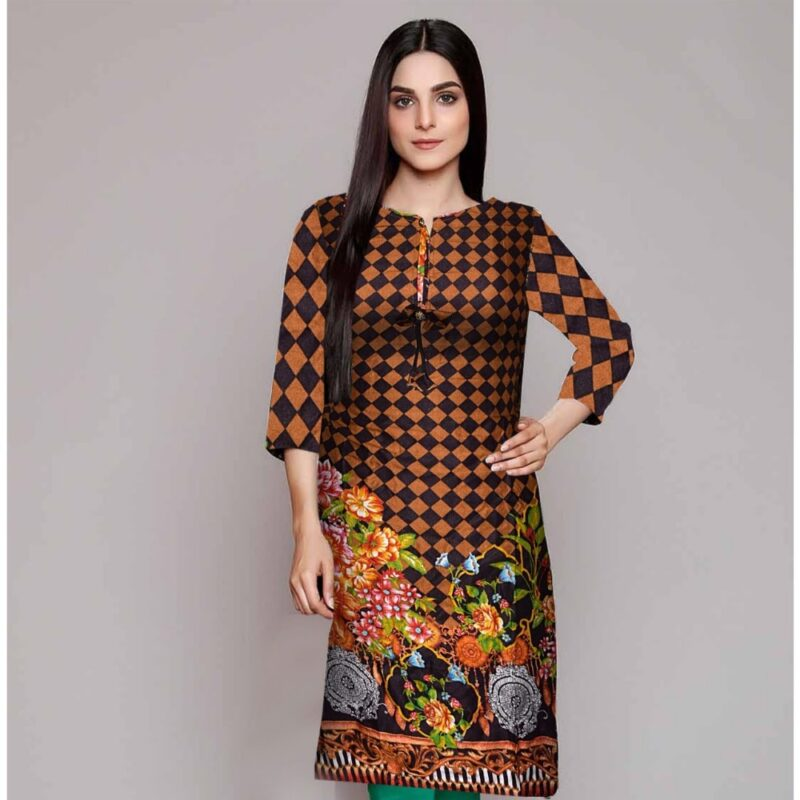 Khaddar full length shirt for women