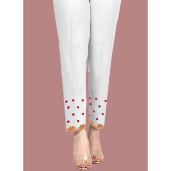 cotton embroidered trouser for ladies