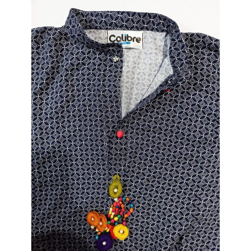 neckwork linen kurti